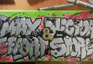 我會寄給你客製化街頭藝術畫板