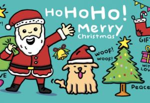 畫互動性的聖誕節視覺設計